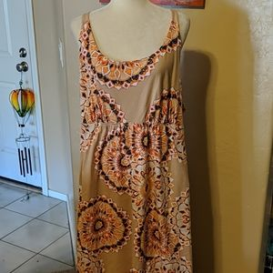 Cacique women's 22/23 sleepwear gown tribal print
